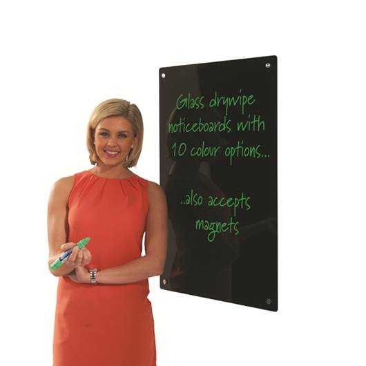 Picture of WRITE-ON® Coloured Glass Drywipe Boards