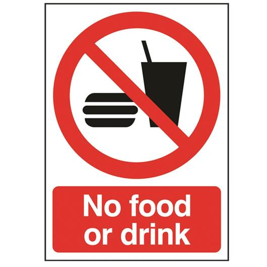 Picture of No Food Or Drink Sign