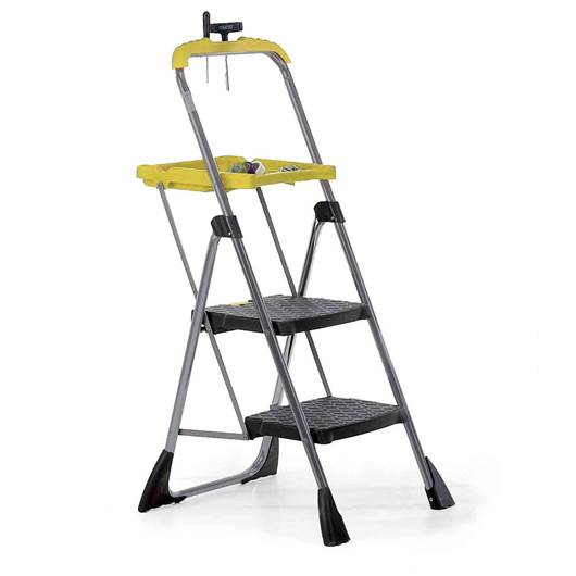 Picture of Folding Steps with Yellow Tool Tray