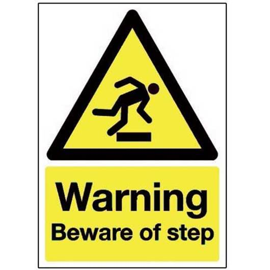 Picture of Warning Beware of Step Sign