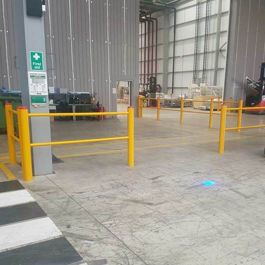 Picture of STOMMPY Flexible Barrier Systems Pedestrian Segregation & Wall Protection